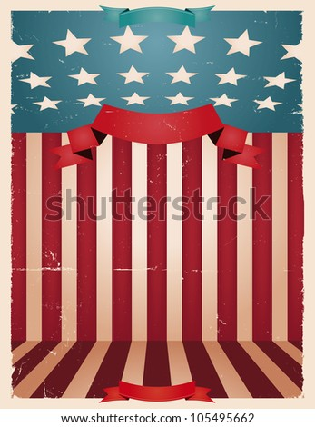 Fourth Of July - American background/ Illustration of an american national holiday background for fourth of july, memorial  or flag day and any national holiday celebration
