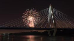 Fourth of July at the Bond Bridge
