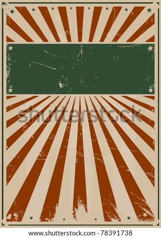 Fourth Of July Vintage Poster/ Illustration of a grunge american flag colors poster background for your advertisement