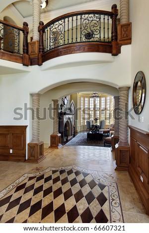 Luxury Homes Foyer foyer in luxury home with floor design stock photo 66607321