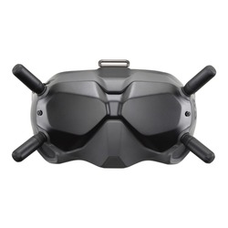 FPV Goggles V2 for Combo Drone Racing Isolated on White. Front View VR Glasses Helmet for Quad Copter Immersive Experience. Flying Remote Control Air Drone. Headless Quadcopter with 4K 60 fps