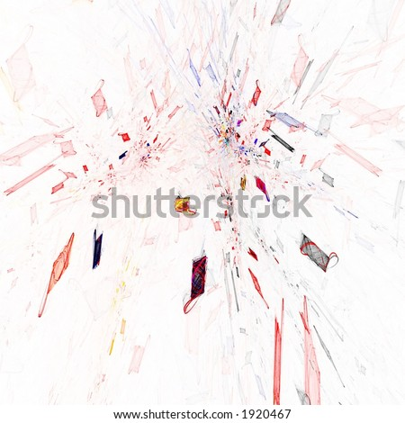 Fractal abstract of colorful explosion
