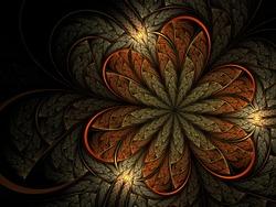 Fractal autumn leaf/flower