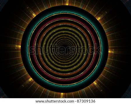 Fractal circular pattern with intricate detail rendered against plain background