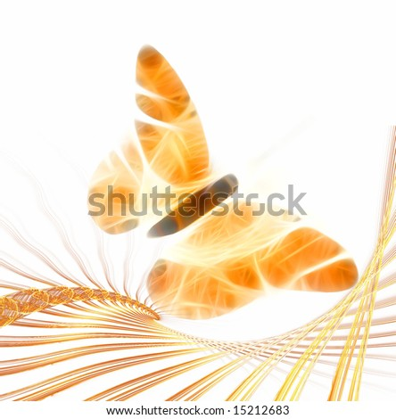 Fractal designed  butterfly illustration