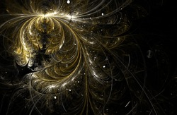 Fractal feathers background
