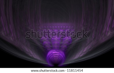 Fractal flame hallway to a castle in the sky