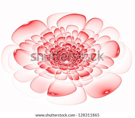 Fractal flower in red
