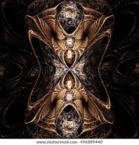 Fractal Gothic  Background  - Fractal Art
