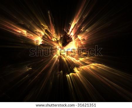 fractal illustration of fire on black