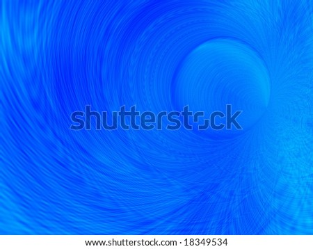 Fractal image depicting an abstract blue moon.