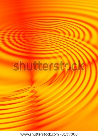 Fractal image depicting an abstract lava flow ripples.