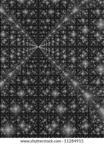 Fractal image depicting an abstract representation of the big bang.