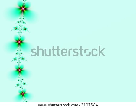 Fractal image of a spring daisy chain border with copy space. #3107564