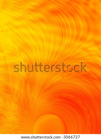 Fractal image of the abstract depiction of the sun.