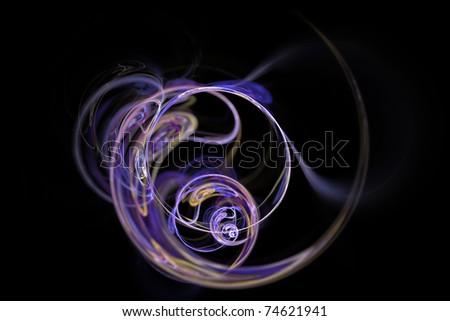 Fractal lights and smoke