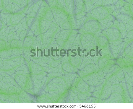 Fractal rendition of green leather back ground