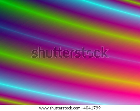 Fractal rendition of multiple colored lines