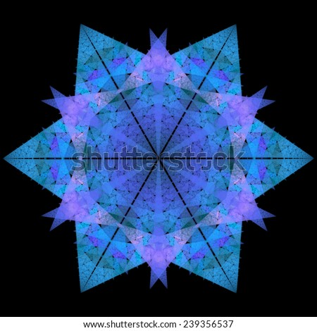fractal snowflake on black background