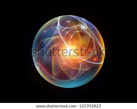 Fractal Sphere Series. Background design of spherical and circular fractal elements on the subject of abstraction, graphic design and modern technology