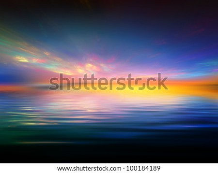 Fractal sunset background suitable as a backdrop for projects on art, music, religion and spirituality