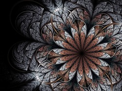 Fractal winter flower