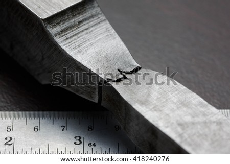 Fracture of tensile test coupon for evaluate strength of material