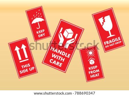 Fragile Icons Set #788690347