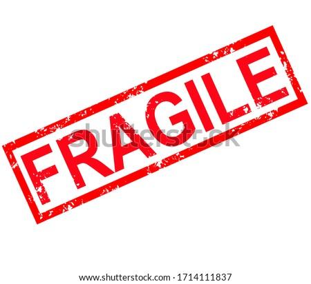 fragile stamp sign. fragile grunge rubber stamp on white background.