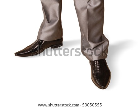 fragment clothing for men.pants and shoes on a white background