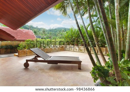 fragment  like view of nice tropical villa with pool