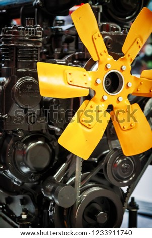 Fragment of a big new tractor engine