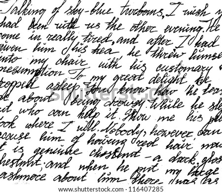 Fragment of a handwritten letter. Can be used for background.