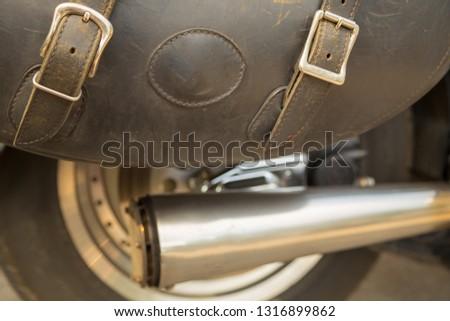 Fragment of a motorcycle biker wheel. #1316899862