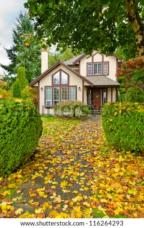 Fragment of a nice house with gorgeous outdoor landscape in Vancouver, Canada. #116264293