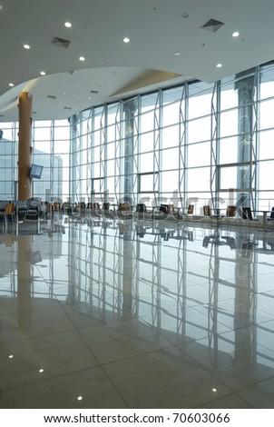 Fragment of airport interior