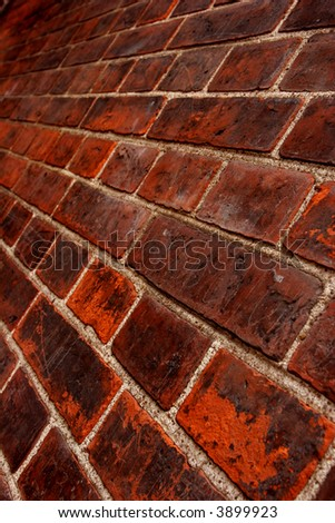 Fragment of an old and dirty brick wall - stock photo