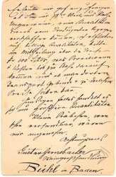 Fragment of an old handwritten letter. It was written in 1878. Rich stain and paper details. Can be used for background