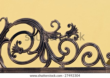 fragment of an ornamental fence
