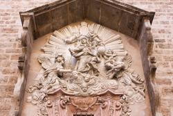 Fragment of Church of Sant Joan del Mercat in Valencia, Spain