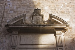 Fragment of Church of Santa Caterina in Valencia, Spain