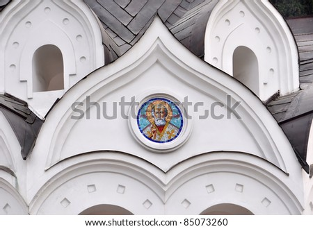 Fragment of decorative St. Michael the Archangel Cathedral, Sochi