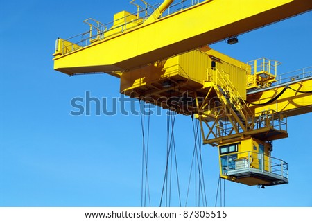 Fragment of industrial crane
