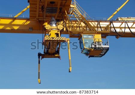 Fragment of industrial crane