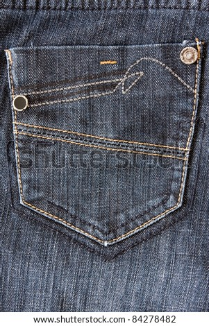 fragment of jeans with pocket, can be used as a background.