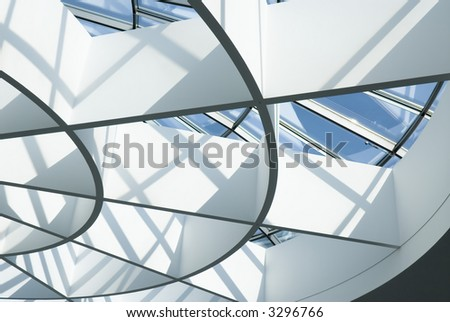 fragment of modern architecture. Glass roof