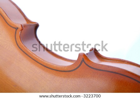 Fragment of Old Violin, Music Instrument, Graceful Lines