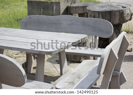 fragment of  outdoor Furniture