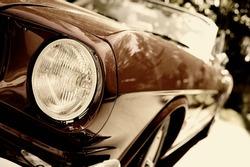Fragment of retro car