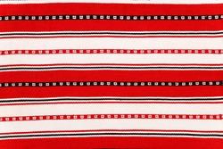 Fragment of Romanian folk seamless pattern. Traditional carpet design.